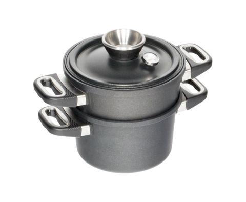 AMT Waterless Cooking Set - Pot 24cm, H:14 + Lid + Steamer