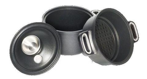 Pressure Cooker Set (Pot 24cm, Lid 024SK + Glass Lid 24cm)