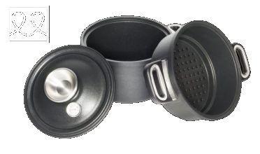 Induction Pressure Cooker Set (Pot 24cm, Lid 024SK + Glass Lid 24cm)