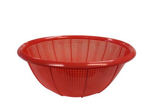 Plastic Colander Round (Fine Mesh) 385x136 Red