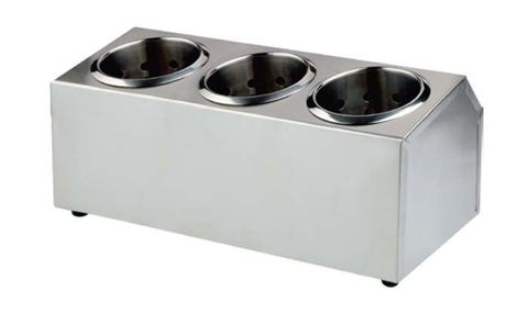 Cutlery Holder S/S 385x150x180mm (3 in a row)