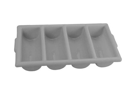 4 Compartments Cutlery Box Grey