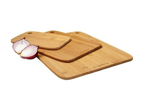 Scanpan Bamboo Cutting Board Set 3pc