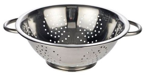 8.0lt S/S Colander with Wire HDL (4mm Holes) - 335x140mm