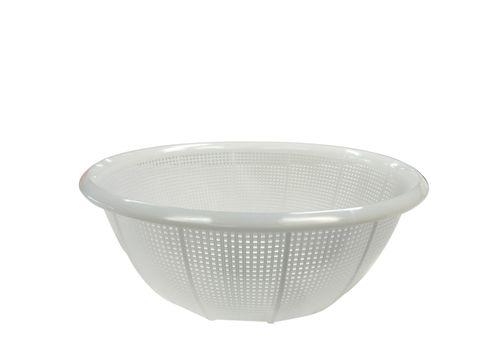 Plastic Colander Round (Fine Mesh) 385x136 White