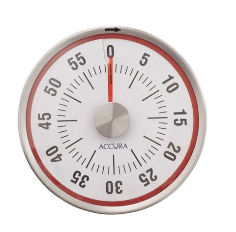 Mechanical Timer 60 Minute with Magnetic Back Red