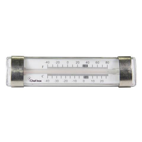 Thermometer Fridge/Freezer Glass Tube 130x35mm