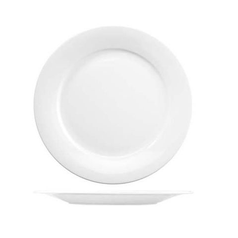 "Wide Rim Round Plate 228mm ""MENU"" ART de CUISINE"