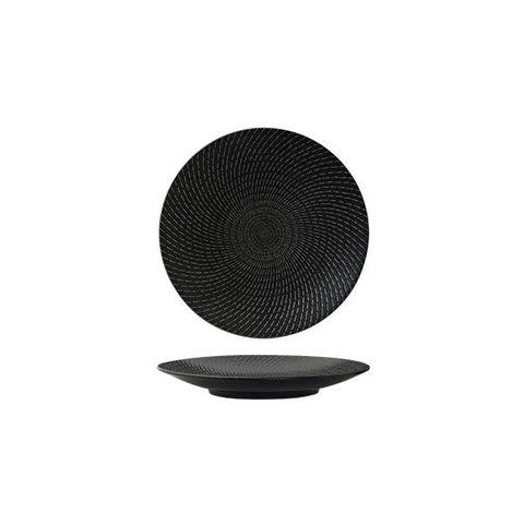 Round Coupe Plate 155mm LUZERNE ZEN Black Swirl