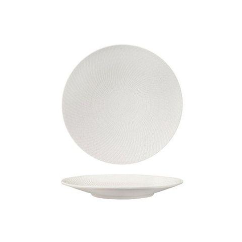Round Coupe Plate 205mm LUZERNE ZEN White Swirl