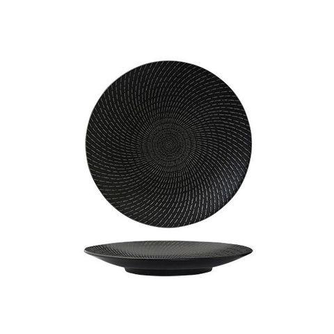 Round Coupe Plate 205mm LUZERNE ZEN Black Swirl
