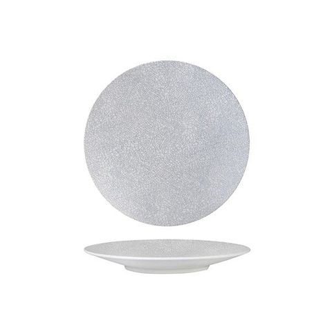 Round Coupe Plate 205mm LUZERNE ZEN Grey Web