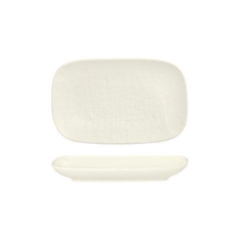Oblong Plate 265x165mm LUZERNE LINEN White