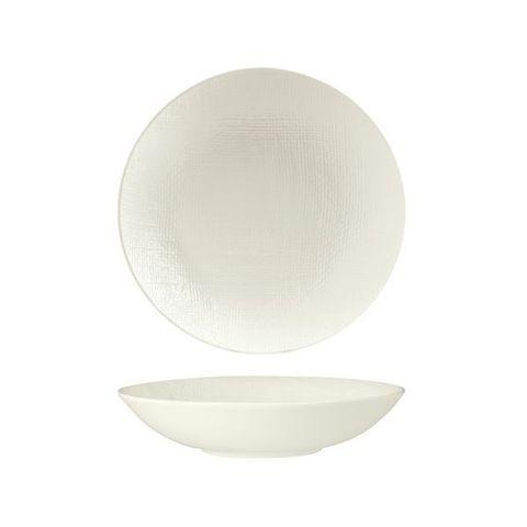 Round Share Bowl 230mm/1100ml LUZERNE LINEN White