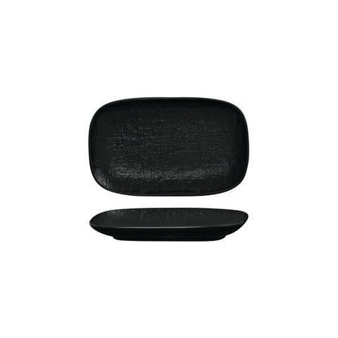 Oblong Plate 215x135mm LUZERNE LINEN Black