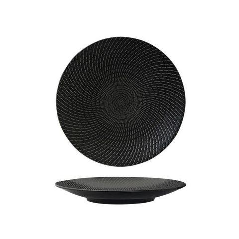 Round Coupe Plate 235mm LUZERNE ZEN Black Swirl