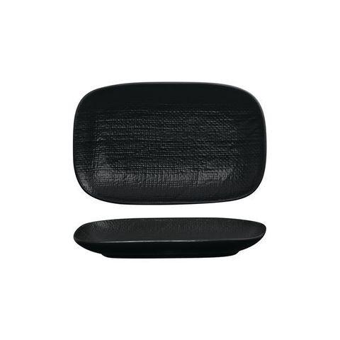 Oblong Plate 265x165mm LUZERNE LINEN Black