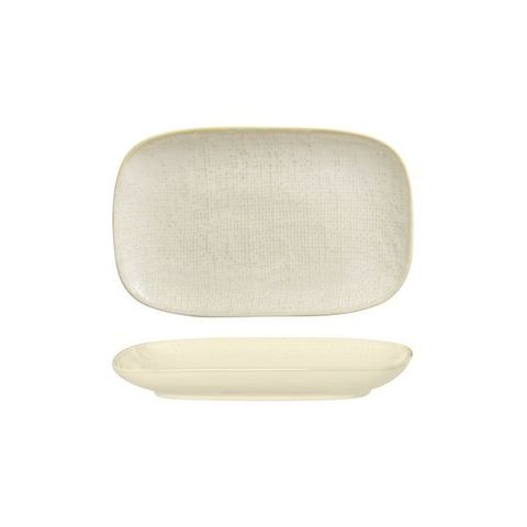 Oblong Plate 265x165mm LUZERNE LINEN Reactive White