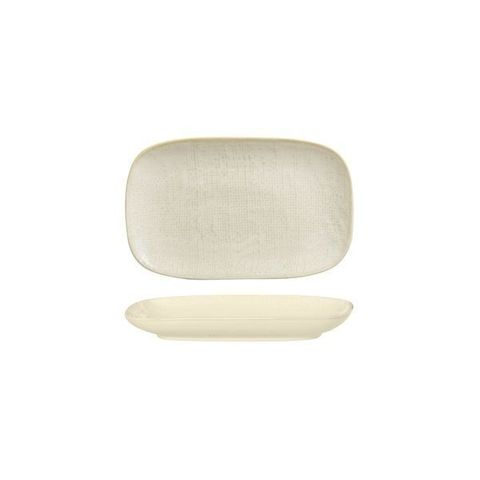 Oblong Plate 215x135mm LUZERNE LINEN Reactive White