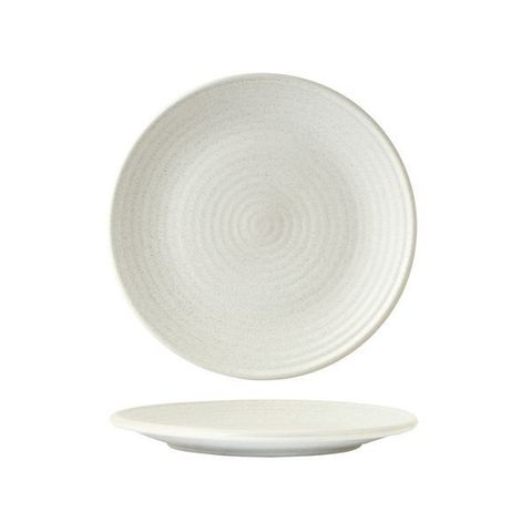 Round Plate - Ribbed 210mm ZUMA Frost