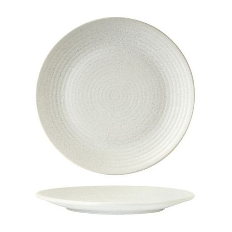 Round Plate - Ribbed 265mm ZUMA Frost