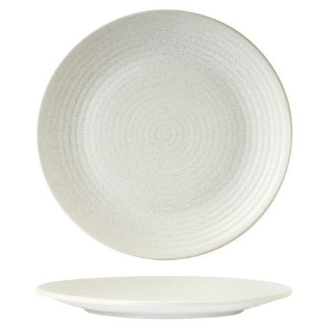 Round Plate - Ribbed 310mm ZUMA Frost