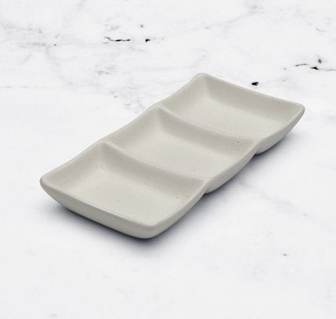 Sauce Dish with 3 Compartments LUMAS