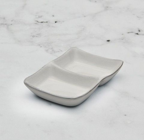 Sauce Dish with 2 Compartments LUMAS