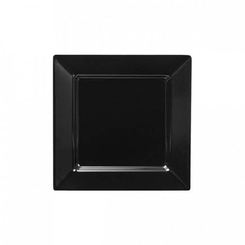 Melamine Square Platter 255x255mm RYNER Black
