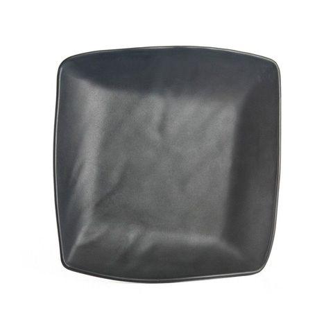 7'' Melamine Square Plate 19x18.6x2.8cm Matt Black