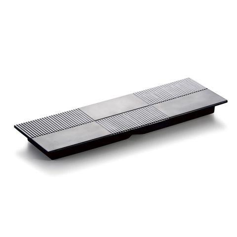 13'' Melamine Rectangle Flat Plate Matt Black