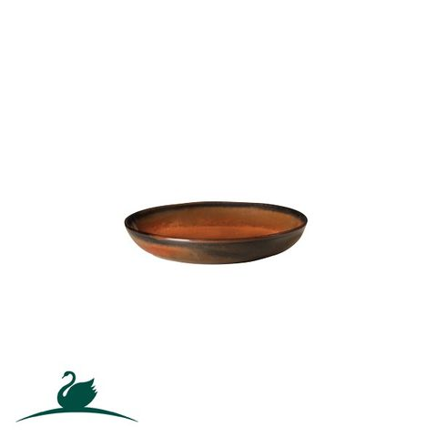 Round Coupe Plate 127mm CAMEO Brown