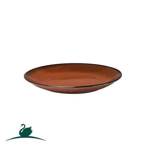 Round Coupe Plate 187mm CAMEO Brown