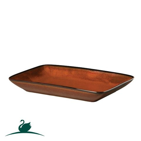 Shallow Rectangular Dish 236x136mm CAMEO Brown