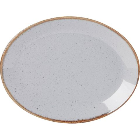 Oval Plate 300mm SEASONS Stone