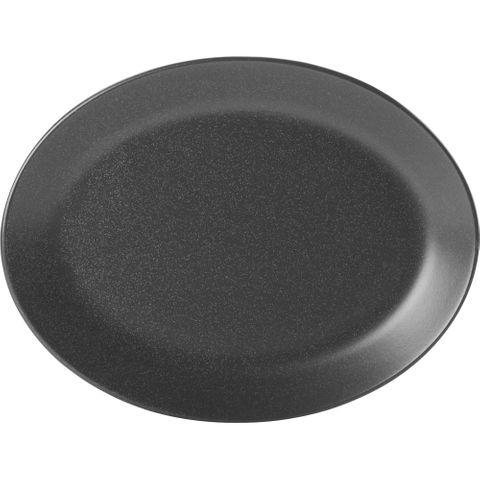 Oval Plate 300mm SEASONS Graphite