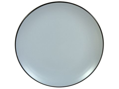 Solid Round Plate Grey 195mm GUSTA Out of the Blue