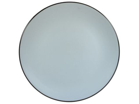 Solid Round Plate Grey 270mm GUSTA Out of the Blue