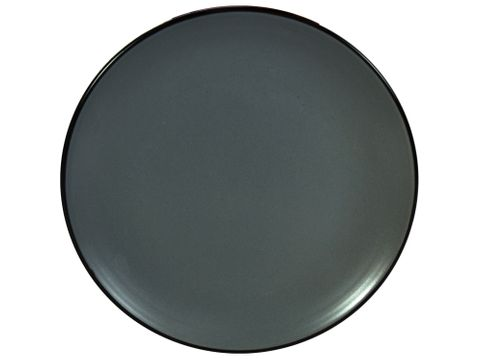 Solid Round Plate Dark Grey 195mm GUSTA Out of the Blue