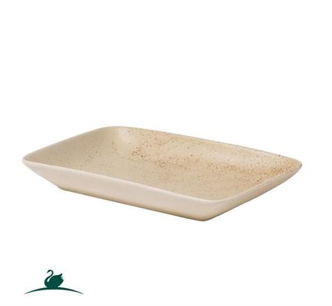 Shallow Rectangular Dish 255x165mm CAMEO Sand