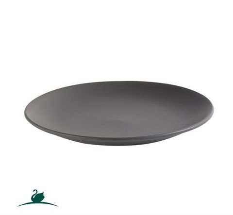 Round Coupe Plate 230mm CAMEO Dark Grey