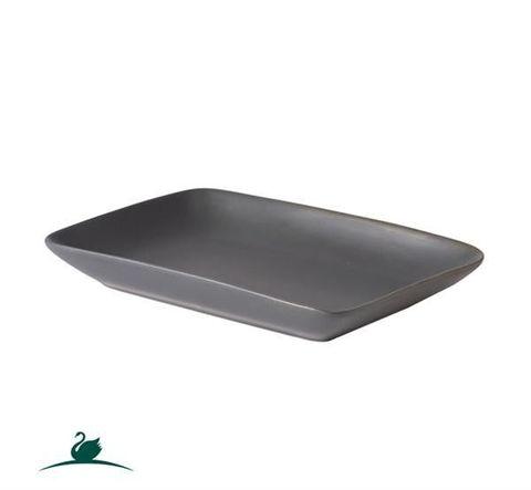 Shallow Rectangular Dish 236x136mm CAMEO Dark Grey