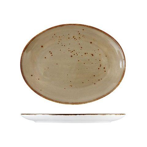 Oval Platter 330x290mm FORTESSA ERTHE Shitake