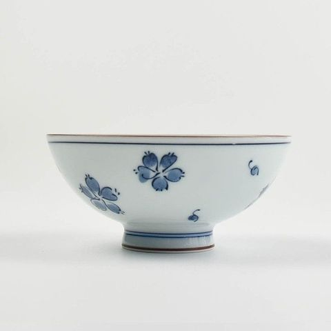 Round Rice Bowl 110mm HASAMI Flower