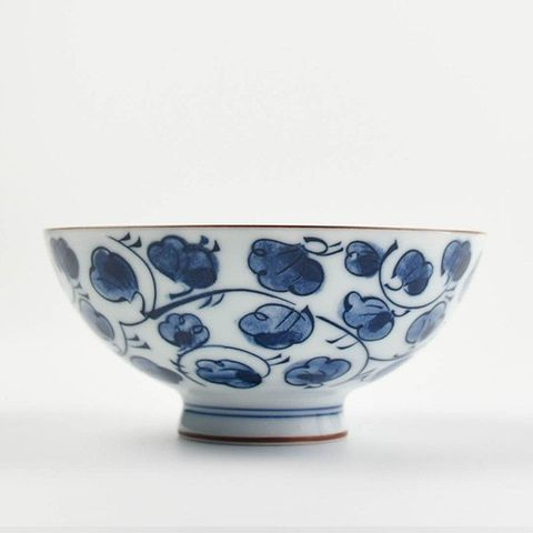 Round Rice Bowl 110mm HASAMI Leaf