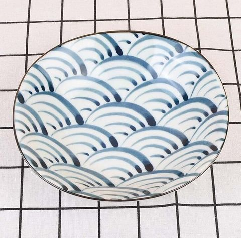 Oval Flared Bowl 185x170mm HASAMI Japanese Wave
