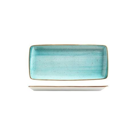 Rectangular Plate 340x160mm BONNA AURA Aqua