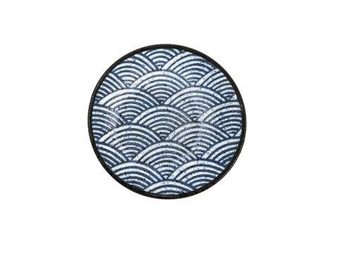 7'' Round Plate 180mm LUMAS Japanese Wave