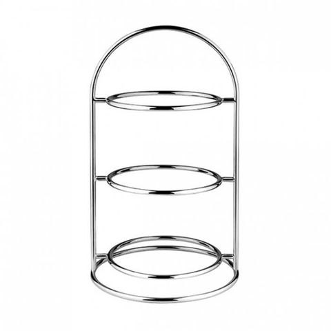 3 Tier Platter Stand Chrome Platted ATHENA