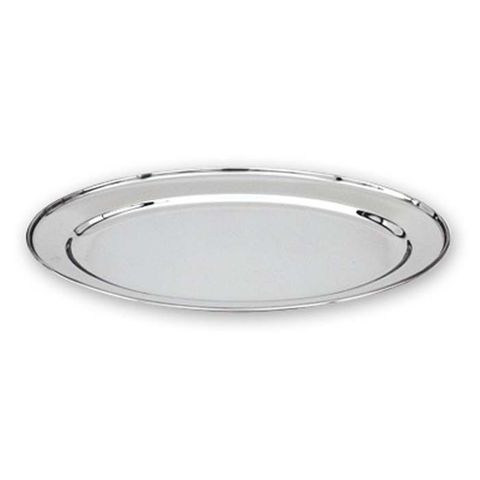 Oval Platter Rolled Edge 18/8 HD 550mm